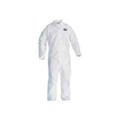 KLEENGUARD A20 Coveralls, MICROFORCE Barrier SMS Fabric, White, XL KCC49004