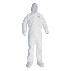 GP KLEENGUARD A20 EBC-HB Coveralls, MICROFORCE SMS Fabric, White, XL KCC49124