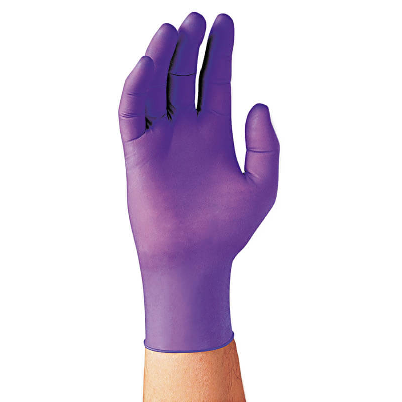 PURPLE NITRILE Xtra Exam Gloves, Large, 12 in Length, 50/Box KCC50603