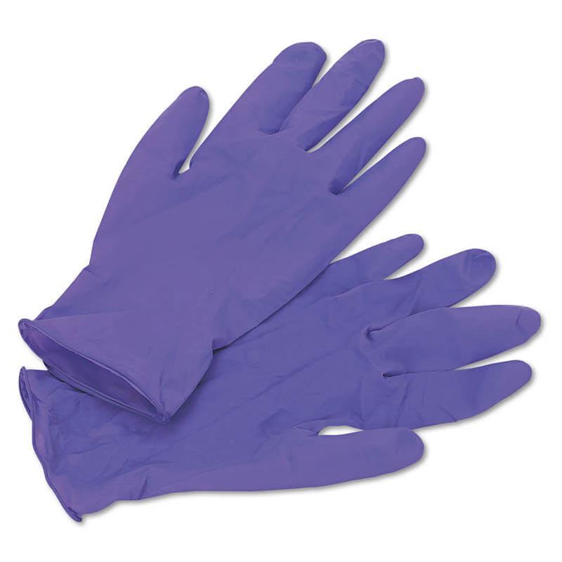 PURPLE NITRILE Exam Gloves, Medium, Purple KCC55082