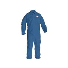 KLEENGUARD A20 Coveralls, MICROFORCE Barrier SMS Fabric, Denim, LG KCC58504