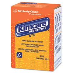 KIMCARE INDUSTRIE NTO Hand Cleaner w/Grit, Orange, 3.5L, Bag In Box KCC91047