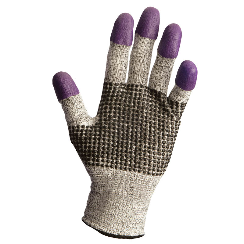 JACKSON SAFETY G60 Purple Nitrile Gloves, Large/Size 9, Black/White KCC97432