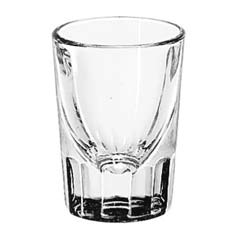 Whiskey Service Drinking Glasses, Fluted Lined Shot Glass, 1-1/2 oz, 2-7/8