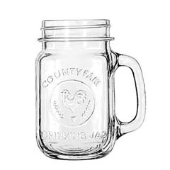 Glass Drinking Jar, 16 1/2 Ounces, Clear LIB97085