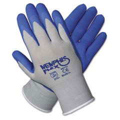 Memphis Flex Seamless Nylon Knit Gloves, Large, Blue/Gray, Pair MCR96731L
