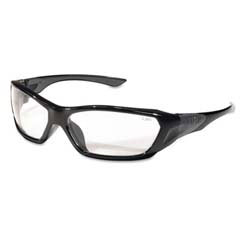 ForceFlex Safety Glasses, Black Frame, Clear Lens MCRFF120