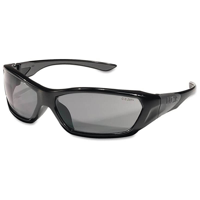ForceFlex Safety Glasses, Black Frame, Gray Lens MCRFF122