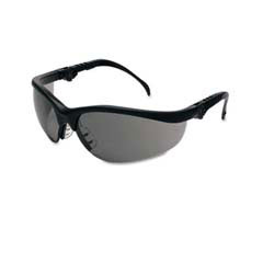 Klondike Plus Safety Glasses, Black Frame, Gray Lens MCRKD312