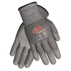 Ninja Force Polyurethane Coated Gloves, Extra Large, Gray MCRN9677XL