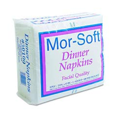 Dinner Napkins, 2-Ply, 15 x 17, White MOR30100