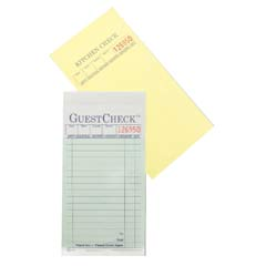 Guest Check Pad, 3-1/2 x 6-3/4, Three-Part Carbonless NTC104-50