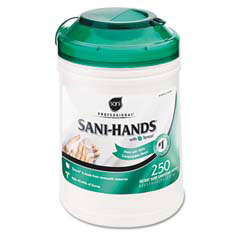 Sani-Professional Sani-Hands Sustainable Wipes, Unscented, 250/Canister NICP49584