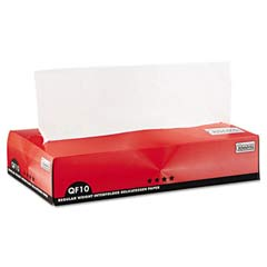 QF10 Interfolded Dry Wax Paper, 10 x 10 1/4, White, 500/Box BGC011010