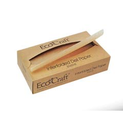 EcoCraft Interfolded Soy Wax Deli Sheets, 10 x 10 3/4, 500/Box BGC016010
