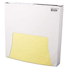 Grease-Resistant Wrap/Liner, 12 x 12, Yellow, 1000/Pack BGC057412
