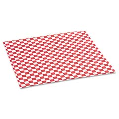 Grease-Resistant Paper Wrap/Liners, 12 x 12, Red Check, 1000 Sheets/Box BGC057700