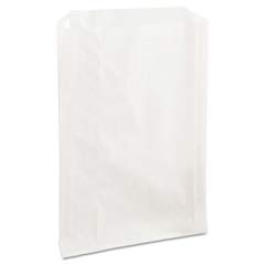 Grease-Resistant Sandwich Bags, 6 1/2 x 1 x 8, White BGC300422