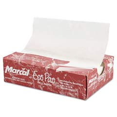 Eco-Pac Natural Interfolded Dry Waxed Paper Sheets, 8 x 10 3/4, White, 500/Pack MCD5291