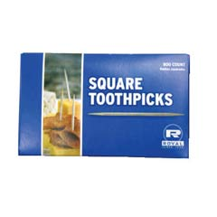 Square Wood Toothpicks, 2 3/4