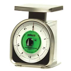 Pelouze Y-Line Mechanical Portion-Control Scale, 5lb Cap, 6 x 6 Platform PELYG180R