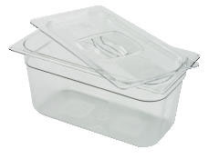 Rubbermaid [117P] Cold Food Pans, 4qt, 6 7/8w x 12 4/5d x 4h, Clear RCP117PCLE