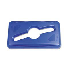 Rubbermaid [1788372] Slim Jim Single Stream Recycling Top for Slim Jim Containers, Blue RCP1788372