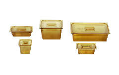 Rubbermaid [206P] Hot Food Pans, 2 1/2qt, 6 3/8w x 6 7/8d x 6h, Amber RCP206PAMB