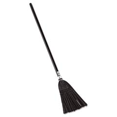 Lobby Pro Synthetic-Fill Broom, 37 1/2-in Handle, Black RCP2536
