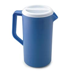 Plastic Three-Way-Lid Pitcher, 36oz, Blue RCP3062PRPER