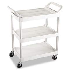 3-Shelf Service Cart, 200-lb Cap., 18 5/8w x 33 5/8d x 37 3/4h, Off-White RCP3424-88OWH