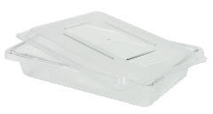 Rubbermaid [3507] Food/Tote Boxes, 2gal, 18w x 12d x 3 1/2h, White RCP3507WHI