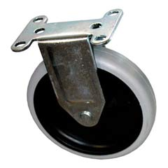 Replacement Fixed-Position Casters, Bayonet, 5in Wheel, Black RCP4501-L1