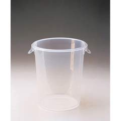 Round Storage Containers, 8qt, 10dia x 10 5/8h, Clear RCP5724-24CLE