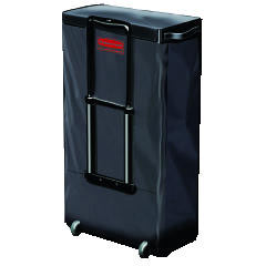 Rubbermaid [6147] Mobile Fabric Cleaning Cart Bag, 30 gal, 18 1/2w x 11d x 35h, Black RCP6174BLA
