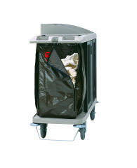 Rubbermaid [6193] Zippered Vinyl Cleaning Cart Bag, 25 gal, 17w x 10 1/2d x 33h, Brown RCP6193BRO
