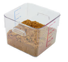 Rubbermaid [6306CLE] SpaceSaver Square Containers, 6qt, 8 4/5w x 8 3/4d x 6 9/10h, Clear RCP6306CLE