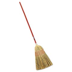 Standard Corn-Fill Broom, 38-in Handle, Red RCP6381