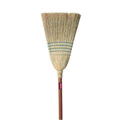 Warehouse Corn-Fill Broom, 38-in Handle, Blue RCP6383