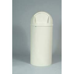 Marshal Classic Container, Round, Polyethylene, 25 gal, Off-White RCP8170-88OWH