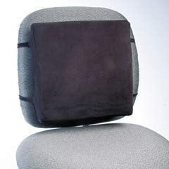 Back Perch w/Fleece Cover, 13w x 2-3/4d x 12-1/2h, Black RCP91060