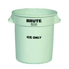 Brute Ice-Only Container, 10gal, White RCP9F86WHI
