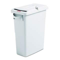 Slim Jim Confidential Rectangle Receptacle w/ Lid, Light Gray - 15.88 Gallon RCP9W25GRA