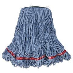 Web Foot Looped-End Wet Mop Head, Cotton/Synthetic, Medium Size, Blue RCPA112BLU