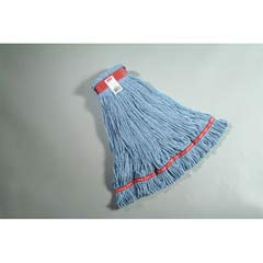 Web Foot Looped-End Wet Mop Head, Cotton/Synthetic, Large Size, Blue RCPA113BLU
