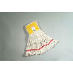 Web Foot Wet Mops, Cotton/Synthetic, White, Small, 5-in. Yellow Headband RCPA151WHI