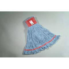Web Foot Wet Mops, Cotton/Synthetic, Blue, Large, 5-in. Red Headband RCPA153BLU