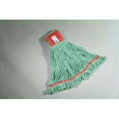 Web Foot Wet Mops, Cotton/Synthetic, Green, Large, 5-in. Red Headband RCPA153GRE