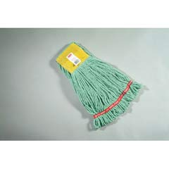 Web Foot Wet Mop Heads, Shrinkless, Cotton/Synthetic, Green, Small RCPA251GRE