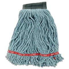 Web Foot Wet Mop Heads, Shrinkless, Cotton/Synthetic, Green, Medium [RCPA252GRE] RCPA252GRE